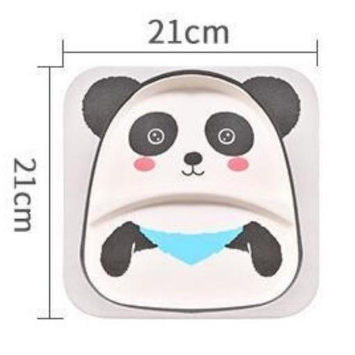بشقاب کودک بامبو فایبر طرح خرس پاندا کد 120201012 - GW- باسلام