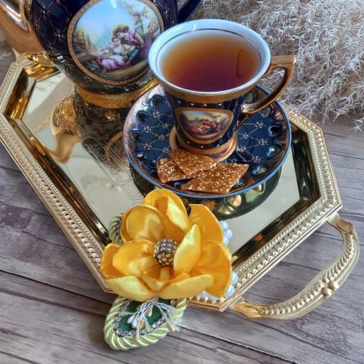 گل کنار سینی چای- باسلام
