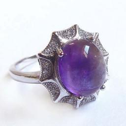 انگشتر نقره زنانه آمیتیست