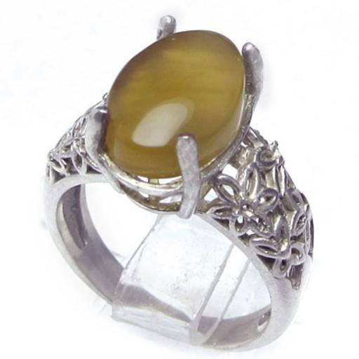 انگشتر نقره شرف الشمس یمنی- باسلام