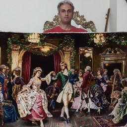 تابلو فرش دستبافت مهمانی