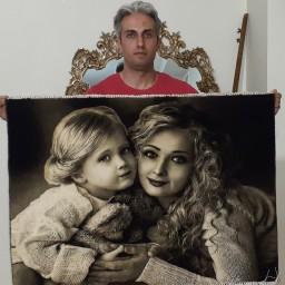 تابلو فرش دستبافت مهر مادری