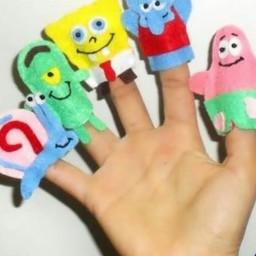 عروسکهای انگشتی کارتون باب اسفنجی