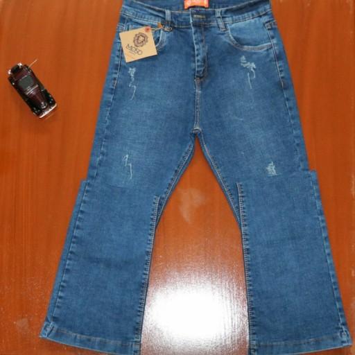 شلوار جین زنانه مدل دمپا قد 100- باسلام