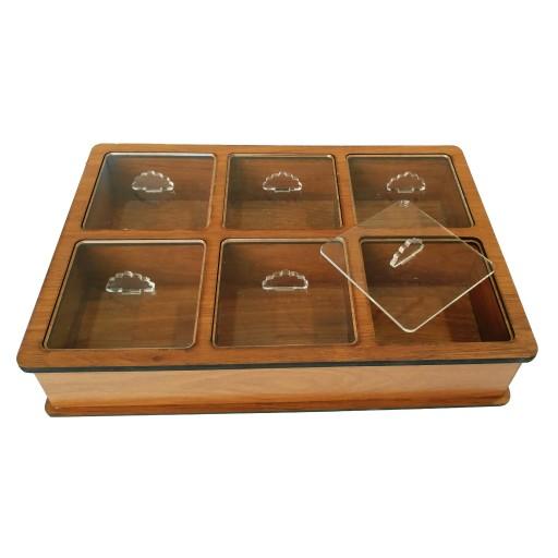 جعبه پذیرایی چوبی مدل AD202- باسلام