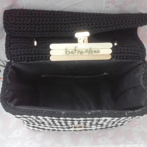 کیف مجلسی بافته شده با نخ سه سوزنه مکرومه - باسلام