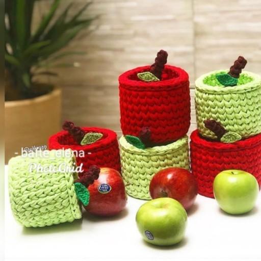 سبد تریکو گرد طرح سیب - باسلام
