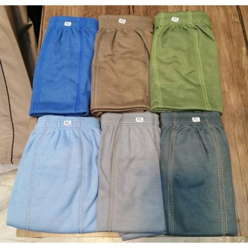 پک 6عددی شورت مردانه پادار پلی استر پنبه ای در سه سایز و 6 رنگ متفاوت- باسلام