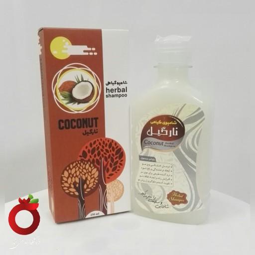 شامپو گیاهی نارگیل 100٪طبیعی(نرم کننده فوق العاده برای موهای وز و فر،طب اسلامی و سنتی)- باسلام