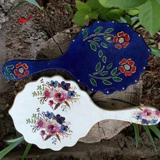 آینه های دستی چوبی خاص و هنری دستینه مهر- باسلام