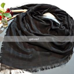 روسری نخ ،کد 87،ریشه سوزنی،قواره 145،تک رنگ مشکی،ارسال رایگان