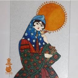 تابلو ویترای دستساز خاتون و خورشید