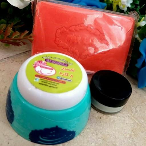 پک ضد لک 8 کاره شمعدانی (2 عدد کرم + یک عدد صابون زردچوبه) - باسلام
