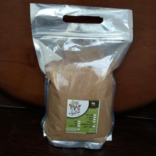 شکر قهوهای نیشکر در بستهبندی های 700 گرمی زیپ کیپی- باسلام