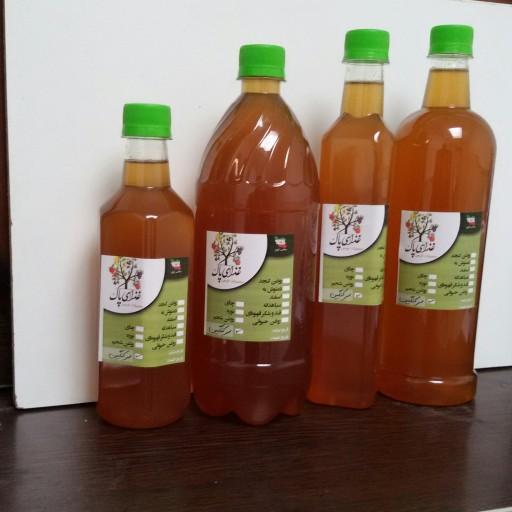 سرکنگبین عسلی، با شیرینی کم در بطری های 900 گرمی- باسلام