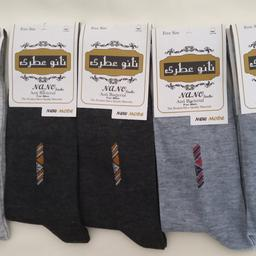 پک 6عددی جوراب مردانه نانو ساق بلند 3رنگ مختلف