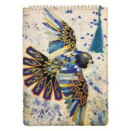 دفتر پارچه ای طرح پرنده اسلیمی ،بسیار زیبا و شیک، انتشارات نور گیتی