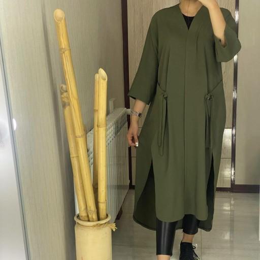مانتو جیب گره ای زنانه فری سایز خوش قواره شیک وخوشگل بی نظیر- باسلام