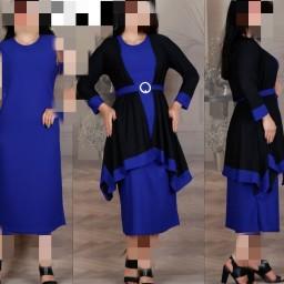 دوتیکه سارافن ومانتو رنگی زنانه فری سایز