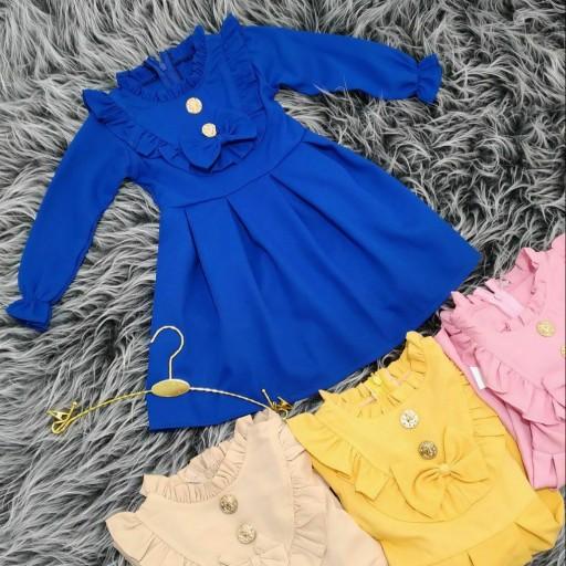 پیراهن دخترانه پیلی دار- باسلام