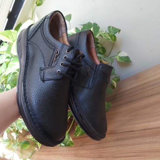 کفش چرم طبیعی مردانه کلارک- باسلام
