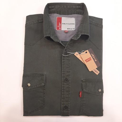پیراهن کتان دو جیب LEVIES خارجی- باسلام
