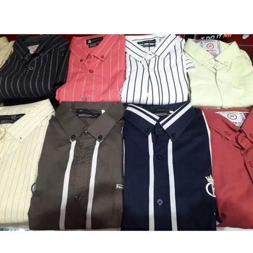 پیراهن مردانه استین بلند کتان نخ عالی- باسلام