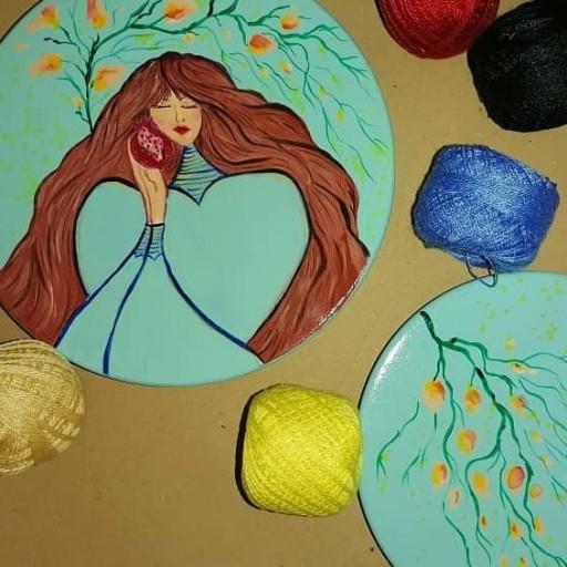 بشقاب دیوارکوب دخترانه- باسلام