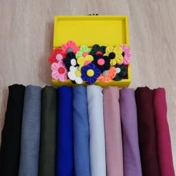 شال نخی ساده عالی در 10 رنگ