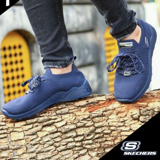 کفش کتانی راحتی پیاده روی مردانه مدل اسکیچرز رنگ سرمه ای (سایز41 الی 44)- باسلام