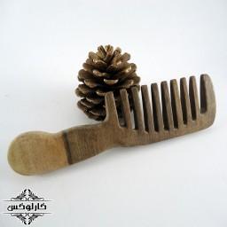 شانه چوبی ساده دسته دار