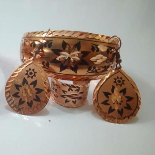 نیم ست بدلیجات مسی هنر زیبای اصفهان- باسلام