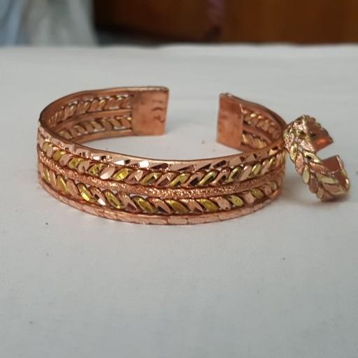 دستبند مس وبرنج مدل یاس- باسلام