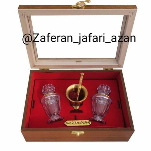 زعفران درجه یک در پک مخمل دوآذین- باسلام