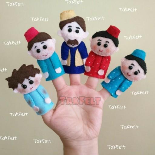 ست عروسک انگشتی حسنی نگو یه دستهگل - باسلام