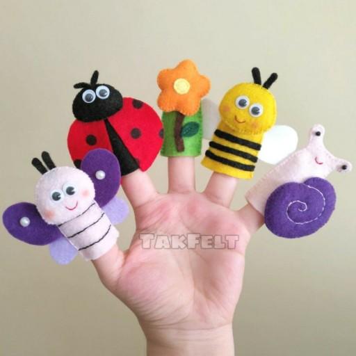 عروسک انگشتی نمدی پک حشرات (ویژهی یه کاسه) - باسلام