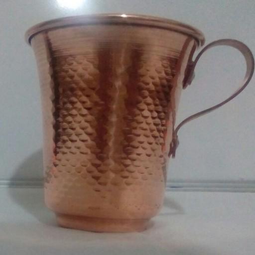 لیوان مسی لاله چکش کاری شده هنر دست- باسلام