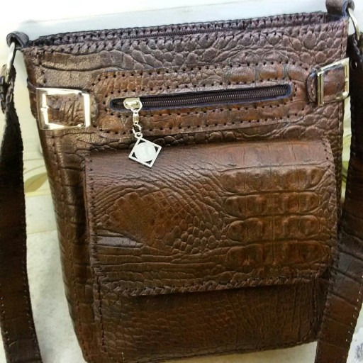 کیف چرم دست دوز سگک دار- باسلام