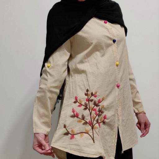 پوشاک مانتو الیاف طبیعی- باسلام