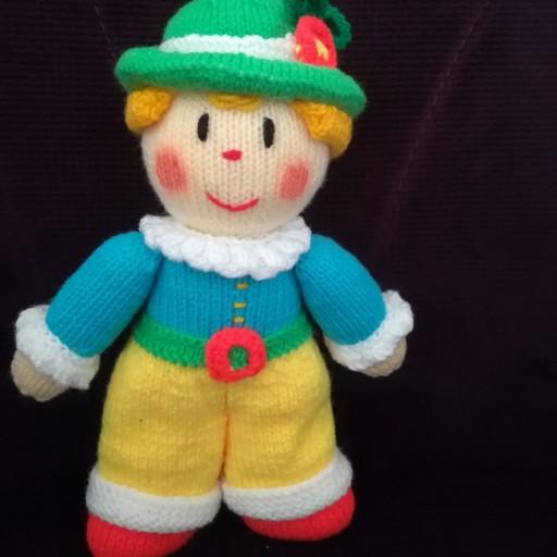 عروسک دستبافت دلقک- باسلام