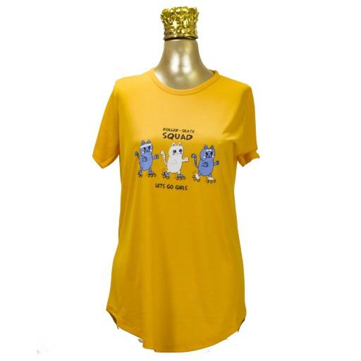 تیشرت زنانه فری سایز مناسب سایز 40 تا 50- باسلام