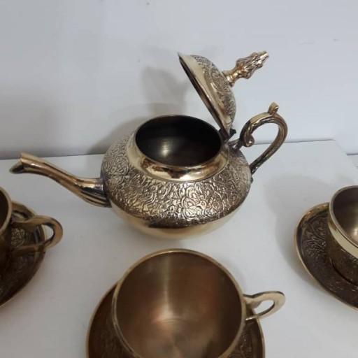 ست چایخوری برنج هندی قلم- باسلام