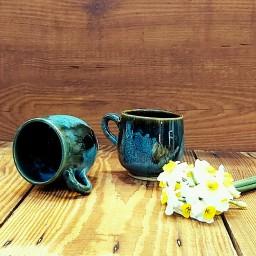 لیوان ساده سفالی با لعاب قلیایی بی ضرر ، صنایع دستی رنگ و لعاب