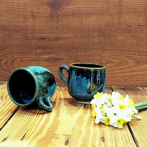 لیوان ساده سفالی با لعاب قلیایی بی ضرر ، صنایع دستی رنگ و لعاب- باسلام