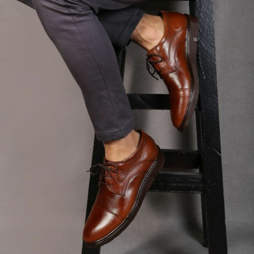 کفش چرم مردانه بلتون- باسلام
