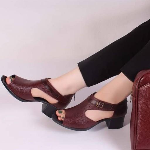 کفش زنانه چرم طبیعی گاوی- باسلام