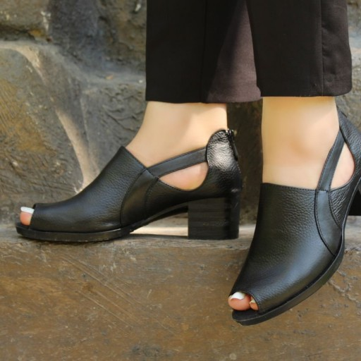 کفش چرمی زنانه کد 103- باسلام