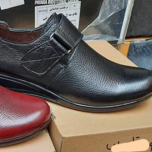 کفش طبی چرم طبیعی زنانه- باسلام