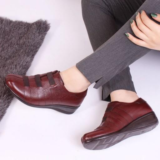 کفش طبی زنانه چرم طبیعی- باسلام