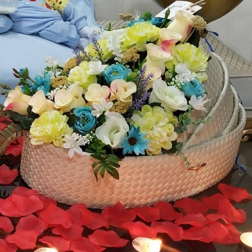 باکس گهواره هدیه تولد نوزاد(چرمی کامل)- باسلام